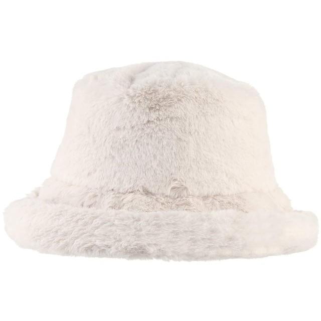 Y-BOA 秋冬 帽子 ボーラーハット バケットハット ロシアン帽 女優帽 レディース 女性 フェイクファー 無地 もこもこ ふわふわ 防寒 暖かい ベージュ