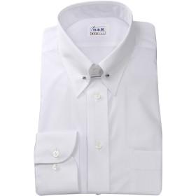 軽井沢シャツ メンズ 長袖ビジネスシャツ (形態安定シャツ) ピンホールカラー ホワイト 綿ポリ混(100双) [A10KZZP09] 標準型