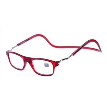 YOUUNG 老眼鏡 リーディンググラス 滑り止め付き 超軽量老眼鏡 磁石留リーダー 折りたたみネックぶら下げ 老眼鏡