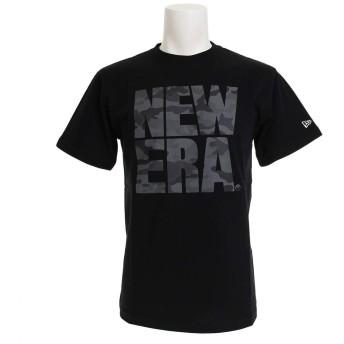 (ニューエラ) NEW ERA Tシャツ WOODLAMD CAMO MIDNIGHT ブラック L