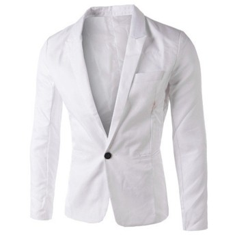 (クチュリオール) COUTURIOR テーラードジャケット 無地 スーツ スリム 白 XL