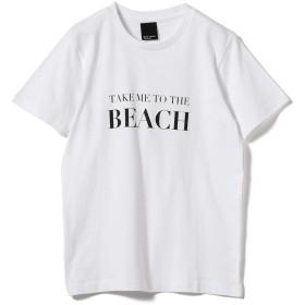 (ビームスライツ)BEAMS LIGHTS/Tシャツ 旅MUSE × BEAMS LIGHTS/BEACH Tシャツ レディース WHITE ONE SIZE