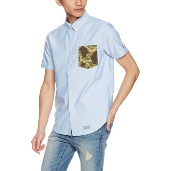 [チャンピオン] 半袖ボタンダウンシャツ C3-M342 メンズ ブルー 日本 M (日本サイズM相当)