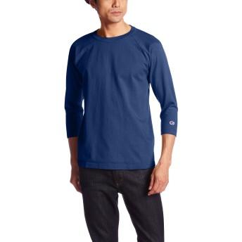 [チャンピオン] T1011 ラグラン7分袖Tシャツ MADE IN USA C5-U401 メンズ ディープブルー 日本 S (日本サイズS相当)