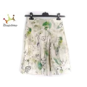 サルバトーレフェラガモ スカート サイズ40 M レディース ベージュ×グリーン×マルチ   スペシャル特価 20190927