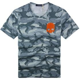 HYDROGEN ポロシャツ メンズ ゴルフ コットン 綿 100% 半袖 夏 プリント18727099 Gray M [並行輸入品]