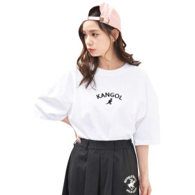 ホワイト M JACK PORT(ジャックポート) KANGOL カンゴール ゆったり Tシャツ レディース 大きいサイズ ユニセックス メンズ JK124531005201