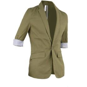 (ラグタイム セレクト) Ragtime Select サマージャケット メンズ 麻ジャケット リネンジャケット ストレッチ 7分袖 R300423-05 カーキ L