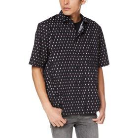 (ディーゼル) DIESEL メンズ シャツ マイクロスカルプリント 半そでシャツ 00SZ1T0PAWJ L ブラック 900
