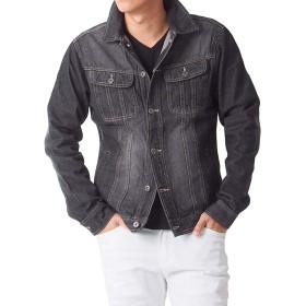 (トップイズム) TopIsm Gジャン メンズ サードタイプ デニム ジャケット ジージャン 綿100% LL 1-ブラック