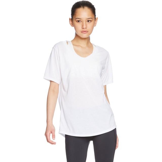 [ミズノ] トレーニングウェア 半袖ロゴTシャツ 吸汗速乾 ドライ ヨガ フィットネス ランニング ソフト レディース 32MA8312 ホワイト 日本 M (日本サイズM相当)