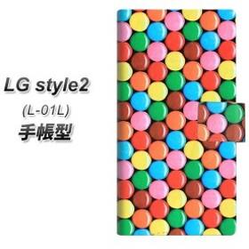 メール便送料無料 docomo LG Style2 L-01L 手帳型スマホケース 【 448 マーブルチョコ 】横開き (docomo LG スタイル ツー L-01L/L01L用/