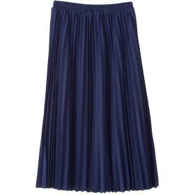 AquaGarage(アクアガレージ)ミモレ丈プリーツスカート ワンサイズ ネイビー