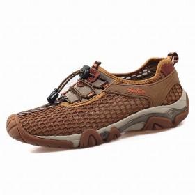 [ゼンシン] メンズ アウトドアシューズ ハイキングシューズ 靴 スニーカー トレッキングシューズ 軽量 通気性 水陸両用 (27, ブラウン)