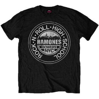 Ramones ラモーンズ Bowery Nyc Band Logo バワリーnyc バンド・ロゴ 公式 メンズ ブラック 黒 Tシャツ 全サイズ Size M