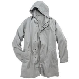【メンズ】 はっ水・ストレッチ素材のフード付きデザインコート - セシール ■カラー:ライトグレー ■サイズ:M,3L,L,5L,LL