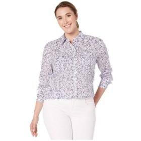 ラルフ ローレン LAUREN Ralph Lauren レディース ブラウス・シャツ トップス Plus Size Floral-Print Cotton Voile Shirt Silk White Multi