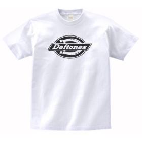 【ノーブランド品】 音楽 バンド ロック DEFTONES Tシャツ 白 MLサイズ (L)