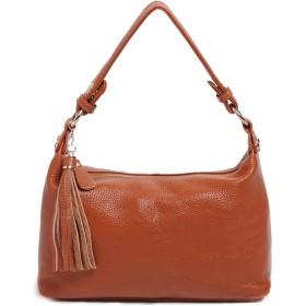 [アゼーム] 本革バッグ ミニショルダーバッグ レディース ハンドバッグ 2way トートバッグ コンパクトサイズ 通勤バッグ お出かけ samsl8188ku (ブラウン/brown)