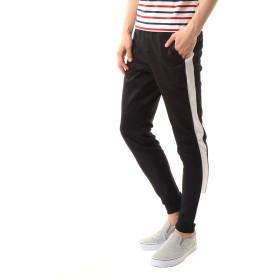 [トップイズム] スウェット パンツ メンズ ジョガーパンツ イージーパンツ ストレッチ サイドライン 1本ライン 22-ブラック1本ライン Mサイズ