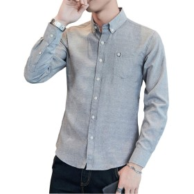 yシャツ メンズ オックスフォード シャツ メンズ 半袖 七分袖 無地 春 夏 秋 SY-17011 (M, 7010-HB)