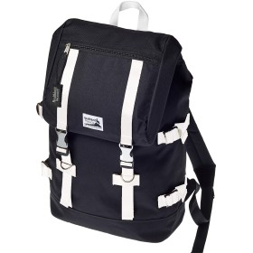 Healthknit (ヘルスニット) リュック バッグパック リュックサック スクエア型 ブラック×ホワイト