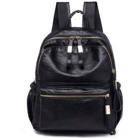 SURCHAR リュック レディース おしゃれ ミニリュック かわいい バッグ 防水 軽量 シンプル バックパック デイパック 小さめ 通勤 通学 旅行 大容量 学生用 ファスナー ブラック