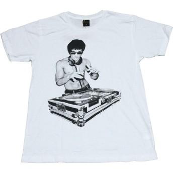(EXCLUSIVE) デザイン Tシャツ ブルースリー DJ おもしろTシャツ メンズ (S) [並行輸入品]