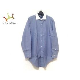 ポロラルフローレン POLObyRalphLauren 半袖シャツ サイズ42 L メンズ ブルー×白 新着 20190713