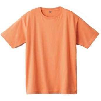 Tシャツ レディース 無地 半袖 インド綿 おしゃれ インド綿 半袖Tシャツ S-3L 全11色(M アプリコット)