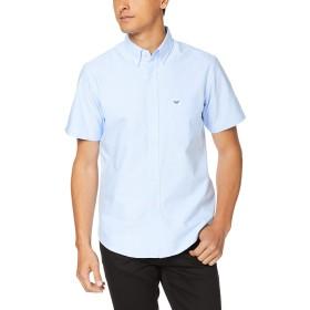 [エドウィン] ボタンダウンシャツ Edwin 半袖(オックスフォード) メンズ ET2086-1 ブルー 日本 M (日本サイズM相当)