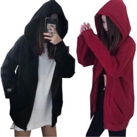 (グードコ) 秋冬 パーカー レディース コート モコモコ 裏ボア ジャケット 裏起毛 厚手 フード付き 防寒 ゆったり 大きいサイズ レッドM