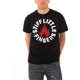 Stiff Little Fingers スティッフ・リトル・フィンガーズ Punk Logo パンクロゴ 公式 メンズ ブラック 黒 Tシャツ Size S
