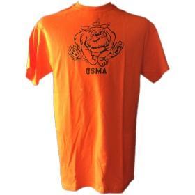STOCKROOM USMA BULLDOG T-シャツ/両面WAR 【6.1オンス 厚手】 (MEDIUM, オレンジーブラック)