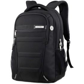 ASPENSPORT ビジネスリュック Laptop Backpack スクールリュック PC収納バックパック黒 メンズ レディース ブラック AS-B06BLK18