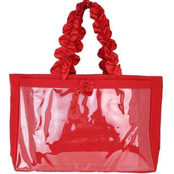 痛バッグ 痛バ 痛BAG zakkamart ザッカマート 大容量ハンドルフリルBIGトートバッグ RED(レッド)