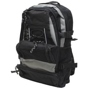 (エクサス)EXAS 600Dポリカジュアルリュック(デイパック リュックサック) ブラック