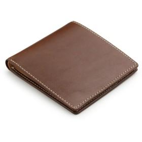 [アビエス] ABIES L.P. 栃木レザー 二つ折り財布(小銭入れなし) 日本製 牛革 チョコ