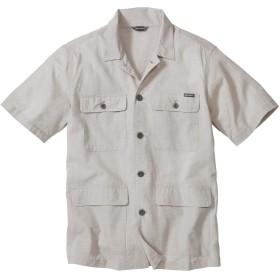 [エディー・バウアー] Eddie Bauer 半袖コットンリネンサファリシャツジャケット 半袖シャツ メンズ (フラックス XL)