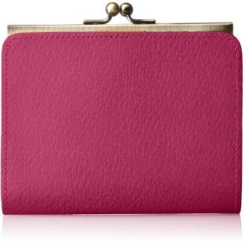 [カナナラ] ピッグレザーがま口ショートウォレット 8168002 ピンク