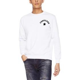 [ウィゴー] WEGO コンバース CONVERSE サガラ 刺繍 起毛 プル オーバー スウェット M ホワイト メンズ