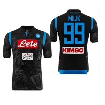 1819年度 Naples サッカーユニフォーム SSCナポリ アウェイ ブラック 半袖 No.99 メンズ レプリカ 半袖 M
