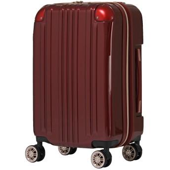 [アウトレット品]【レジェンドウォーカー】LEGEND WALKER スーツケース ファスナータイプ ダブルキャスター 鏡面ボディ TSAロック 軽量 Sサイズ B-5122-55 ワインレッド
