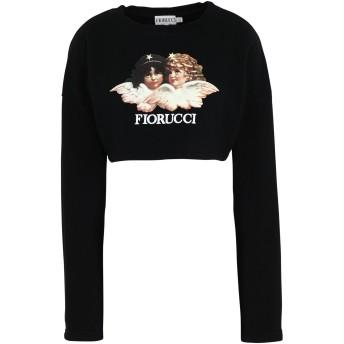 《セール開催中》FIORUCCI レディース スウェットシャツ ブラック M コットン 100% WOMENS VINTAGE ANGELS CROPPED SWEATSHIRT