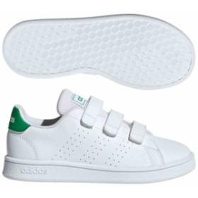 アディダス キッズ 子供靴 スニーカー キッズ ADVANCOURT ランニングホワイト×グリーン×グレーTWO  adidas EF0223