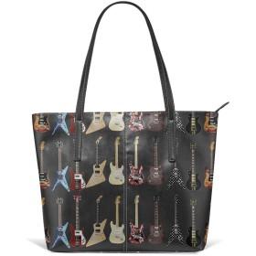 ギターレザートートバッグ財布ショルダーバッグポータブル収納ハンドバッグ便利なショッパートートバッグ