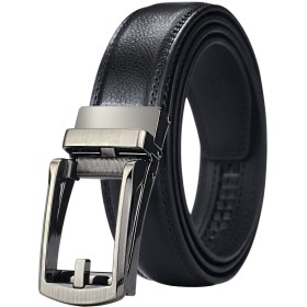 [マイクイーン]maikun ベルト メンズ ビジネス おおきいサイズ メンズベルト ゴルフ 紳士ベルト 革ベルト belt オートロック 穴なし 黒 110cm