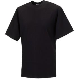 (ラッセル) Russell メンズ クラシック 半袖Tシャツ トップス カットソー 定番 男性用 (M) (ブラック)