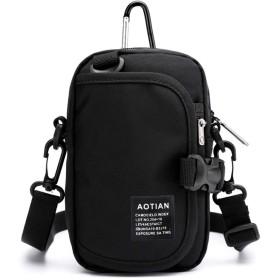 ベルトポーチ メンズ ショルダー アウトドア ベルト通し 防水 スマホ ポシェット 小物入れバッグ