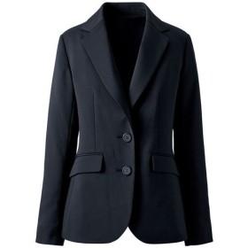 【レディース】 着丈が選べるスーツテーラードジャケット(事務服・洗濯機OK) - セシール ■カラー:ブラックB(ロング丈) ■サイズ:5AP,21ABR,11AR,19ABR,15ABR,7AR,9AR,13AR,17ABR